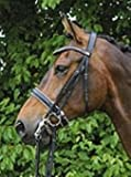 Hans Melzer Horse Equipment Kandare Hamburg, schwarz/silber, Pony
