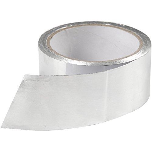 Aluminium-Klebeband, B: 50 mm, Dicke 0,5 mm, silber, 20m