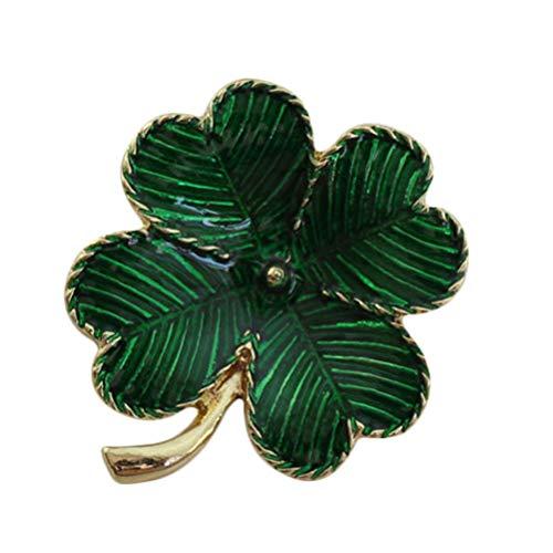 Irish Shamrock Strass (Amosfun Irish Shamrock Kleeblatt Brosche Strass Kristall Brosche Pins st. Patricks Day zubehör (grün))
