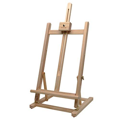 Artina Tischstaffelei Sydney - Leinwand Staffelei aus Holz - Sitzstaffelei 27 x 27 x 60 cm für alle Maltechniken geeignet