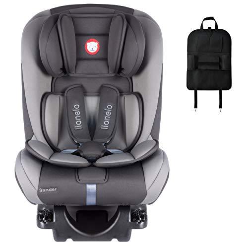 Auto-Kindersitz LIONELO SANDER 180° ISOFIX 0-36 kg Grau + HM-Active Organizer