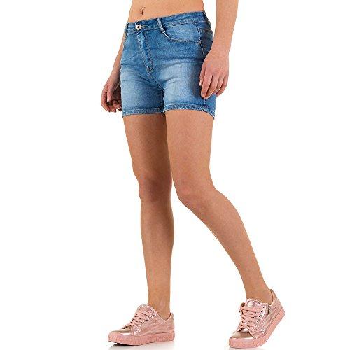 Used Look Jeans Shorts Für Damen bei Ital-Design Blau