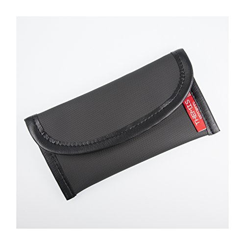 THEMIS Security GEN 4 Premium XL - GSM/LTE/RFID/NFC Abschirmhülle - geeignet für iPhone 4/5 / 6, hochwertiges Nanomaterial, 2 Fächer, 4 Lagen Flexible Schirmung, Made in Germany