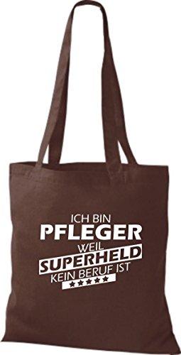 Tote Bag Shirtstown Sono Uninfermiera Perché Il Supereroe Non È Una Professione Marrone