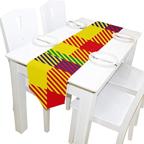 rtan abstrakte Kommode Schal Tuch Abdeckung Tischläufer Tischdecke Tischset Küche Esszimmer Wohnzimmer Home Hochzeit Bankett Dekor Indoor 13 x 90 Zoll ()