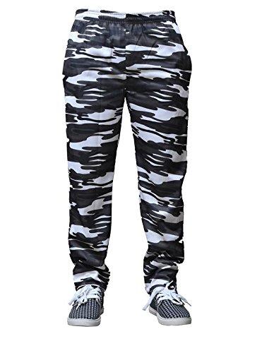 ADH Men's Poly Cotton Smart Fit Track Pant (Multi Colour,L)