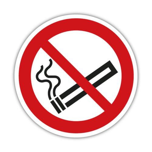 2x Aufkleber - Rauchverbot - Rauchen verboten - Nichtraucher 10cm Hinweisschild (ohne Text)