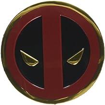 Classic DEADPOOL Icon, Officially Licensed Marvel Artwork, Premium Vinyl Gold Metallic Finish, 3cm Metal Sticker Pegatina