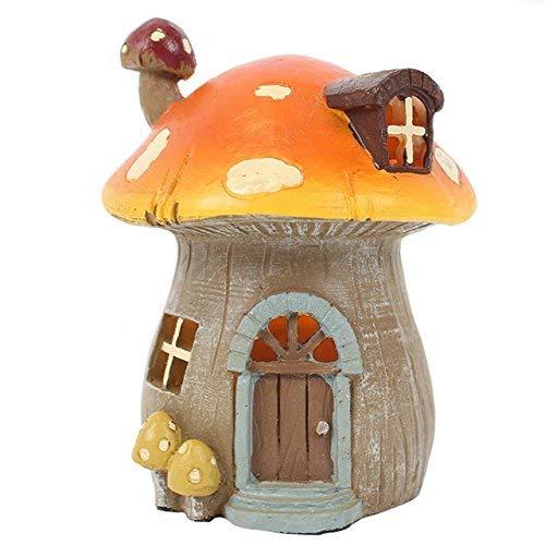 Esta casa de hadas está hecha de resina y será el complemento perfecto para cualquier jardín de hadas.
