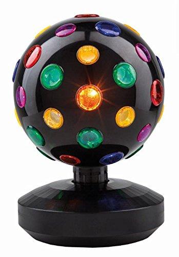 Uni-Elektra Tisch Disco-Kugel Partylicht, stehend, schwarz 62012