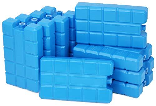 com-four® 9X Big Pack Kühlakku in blau - Kühlelemente für Kühlbox und Kühltasche - Kühlakkus für Haushalt und Freizeit