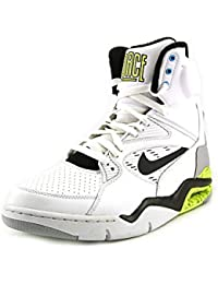 "Nike Mens Air Command Force ""Billy Hoyle"" Blanco/Negro-Wolf Grey-Volt Leather Basketball Shoes Size 8"
