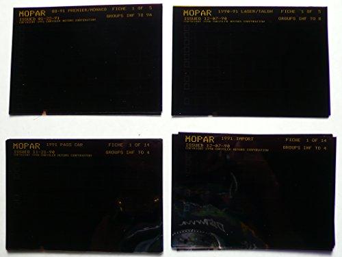 Chrysler - 4 Sätze microfich (part catalogs): 1988-91 Premier, Monaco - 5 Folien, 1990-91 Laser, Talon - 5 Folien, 1991 passenger cars - 14 Folien, 1991 import cars - 14 Folien -