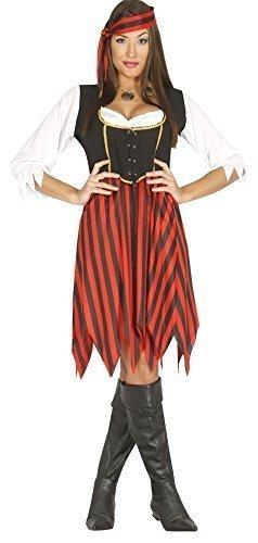 lierend Piraten Bösewicht Sexy Seeräuber Corsair Kostüm Kleid Outfit 14-18 - Rot, 14-18 (Corsair Kostüm)