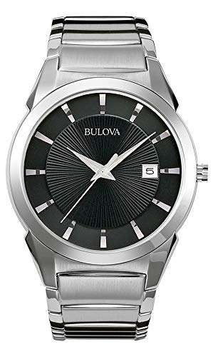 bulova orologio analogico quarzo uomo con cinturino in acciaio inox 96b149