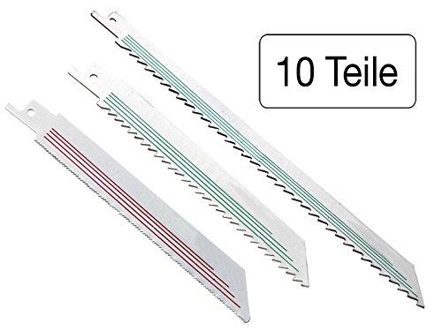 Säbelsägeblätter Beschneiden (10 teiliges Set Säbelsägeblätter für Holz und Metall)
