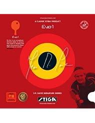 Stiga - Revêtement Saive Evo One pour raquette de tennis de table - noir 1,8 mm