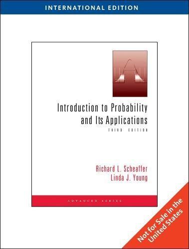 Introduction to Probability and Its Applications, International Edition