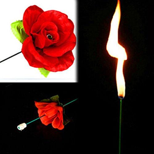 Gogogo Zaubertrick Feuer zur Rose Blume für Bühnen Property Schauspiel Show Party Liebhaber Geschenk