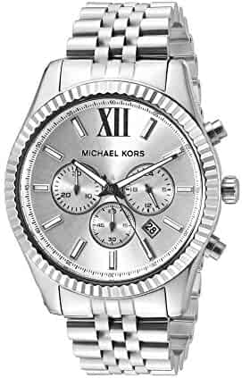 Michael Kors Men's Lexington MK8405–Silver Stainless Steel Quartz Dress Watch