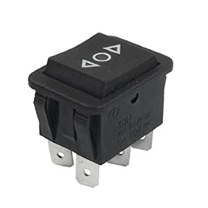 momentary 6 pin dpdt on off on rocker switch ac 250v 10a. Black Bedroom Furniture Sets. Home Design Ideas