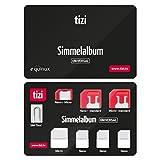 equinux tizi Simmelalbum Universal - Convenient SIM Card Storage Set (SIM Organizer) with SIM Adapters and SIM Eject Pin