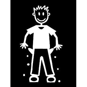 My Stick Figure Family Familie Autoaufkleber Aufkleber Sticker Decal Vater mit leeren Taschen M18