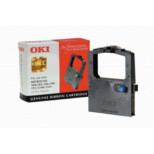 OKI 9002309Für Drucker–für Drucker Farbband (schwarz, Matrix-Punkt, 24-Pin, schwarz, ML380/385/3901/391/3390/3391, Behälter) (Oki Matrix)