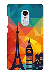 AMAN France City 3D Back Cover for Xiaomi Redmi Note 4