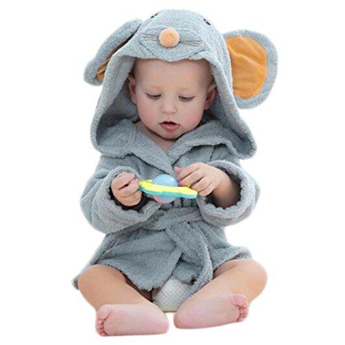 Upxiang Baby Bademantel Baby Boy und Mädchen Cartoon-Stil Bademantel Kapuze Badetuch Bademantel Home Service Samt Robe Cartoon Handtuch Pyjamas Kleid Kleidung (0-2 Jahre alt) (Roben Superman)