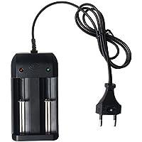 Baterías 18650 Cargador, Zolimx Cargador de Batería para 18650 14500 26650 Baterías Recargables de Li-Ion EU Plug