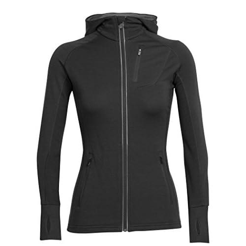 41srgS89qHL. SS500  - Icebreaker Quantum Long Sleeve Hood Long Sleeve Zip Hood Women's Jacket