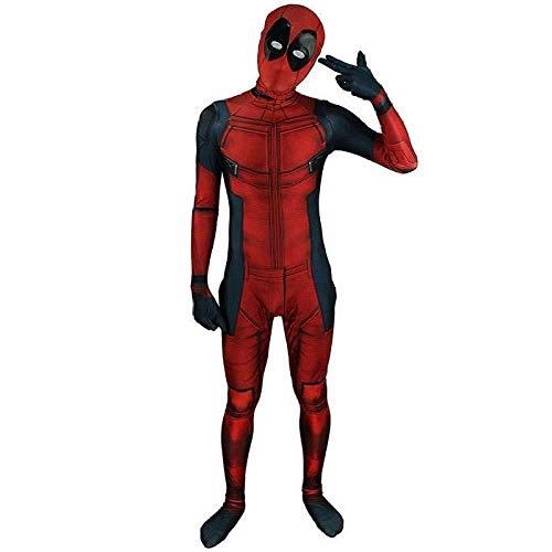 Kostüm Peter Parker - HUIHONG Erwachsene Spiderman Kostüm Männer Spiderman Far from Home Cosplay Kostüm Zentai Anzug Peter Parker Body Overall Halloween,Adult-M