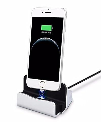 Eximtrade Magnétique Chargeur Station d'accueil Dockstation Support pour Apple iPhone 5/5s/6/6s/6 plus/6s Plus/7/7 Plus, iPod