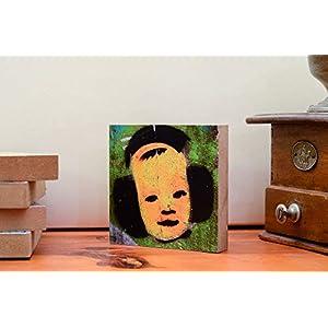 Foto auf Holz, im Quadrat, 10×10, Graffiti mit einem Portrait Kind mit Kopfhörer Chillen handmade Holzbild Wandbild Holzdeko Dekoration Geschenk Mitbringsel Geschenkidee