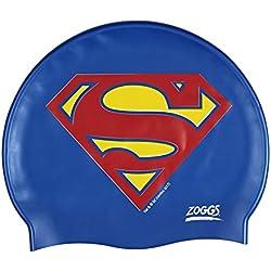 Zoggs niños de Superman–Gorro de natación, color azul/amarillo/rojo, talla única