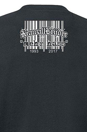 KrawallBrüder mehr hass T-Shirt schwarz Schwarz