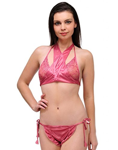 OLEVA Casual Set of 2 Lingerie Set OLG_BP8_DarkPink  available at amazon for Rs.399