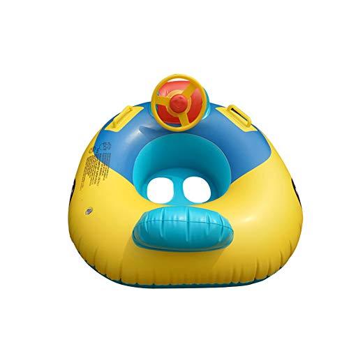 Wanyudz Aufblasbare Pool Float Baby Kinder Schwimmen Ring mit Auto Lenkrad Safe Griff Kinder Pool Badezimmer Zubehör