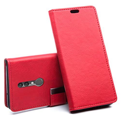 iHOY Alcatel 3 2019(5053Y 5053D 5053K) Hülle, PU Leder Case Tasche Schutzhülle Flip Case Wallet im Bookstyle Klapphülle mit Standfunktion für Alcatel 3 2019(5053Y 5053D 5053K)