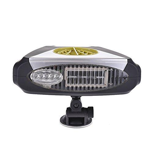 Scaldino per auto con luce, da 12V, termoventilatore elettronico caldo/freddo, sbrinatore di neve e antinebbia, purificatore d'aria