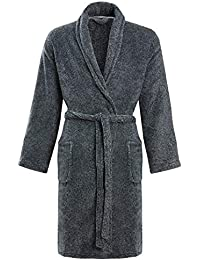 STONEBRIDGE Mens Luxury Super Soft Men Dressing Gown Hooded Bathrobe f69639f53