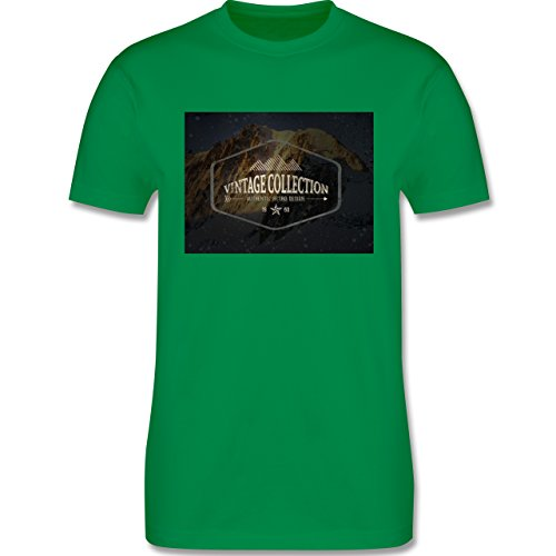Wintersport - Retro Design Berge - Herren Premium T-Shirt Grün