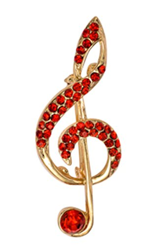 Epinki Damen Brosche, Edelstahl Geometrie Form Broschen Pin Abschlussball Anstecknadel Hochzeit Pins Rot 1.8*5.1CM (Auge Rosenkranz Pins)