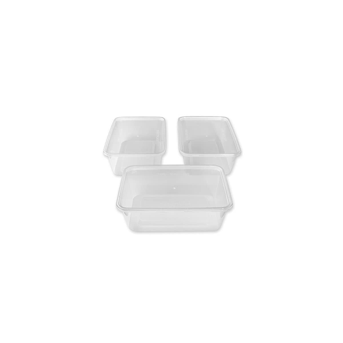 Zuvo 50 x Rectangular 750ml Microwave Clear Plastic Containers Freezing Takeaway Hot Cold Foods, 40 x 20 x 13 cm 41srjTTOneL
