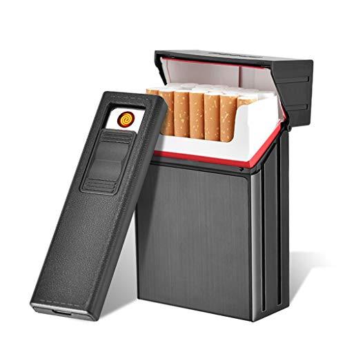 Borse e accessori HY Accendisigari - con Accendino elettronico può Essere Separato e Accendino modulo Sigaretta Ricaricabile Che può Contenere 20 Sigarette -92x67.5x27mm