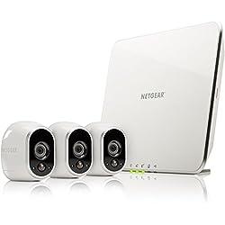 Arlo HD Smart Home 3 HD-Überwachung Kamera-Sicherheitssystem (Kabel, Indoor/Outdoor, Bewegungssensor, Nachtsicht) weiß