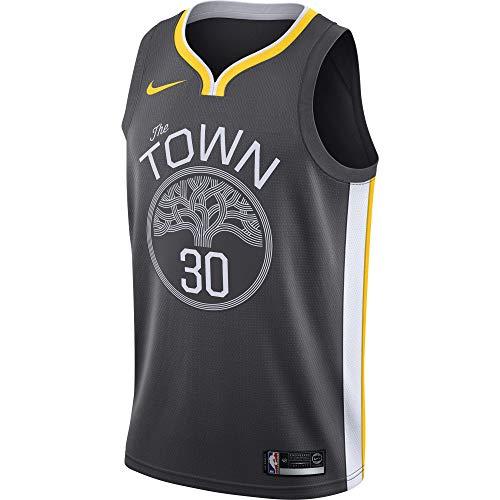 Nike GSW M NK SWGMN JSY ALT1 Camiseta Golden State Warriors de Baloncesto, Hombre, (Anthracite/White/Amarillo), S