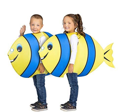 My Other Me Disfraz de Pez Amarillo y Azul para niños