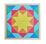 B&Julian® Holz Tetris Spiele Legespiel Geometrie Puzzle mit Geometrische Formen in Box 3D Effekt Lernspiele für Kinder Knobelspiele 40 TLG.